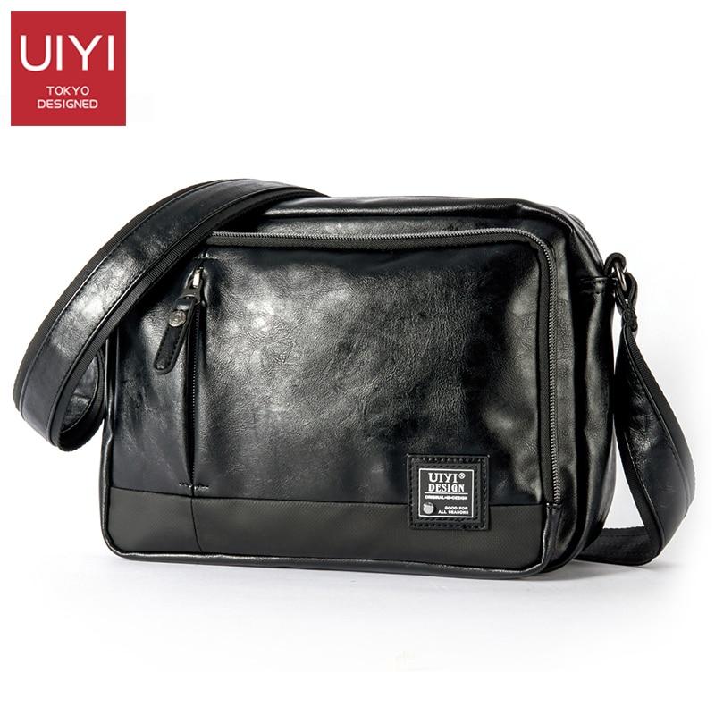 UIYI Casual Men's Messenger Bags PVC Shoulder Bag Fashion Men Business Crossbody Bag Travel Handbag Drop Shipping #UYX7056-in Crossbody Bags from Luggage & Bags    1