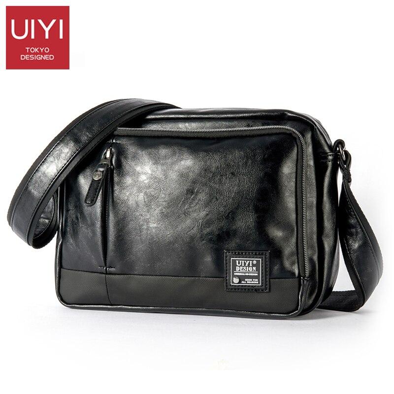 UIYI décontracté hommes Messenger sacs PVC sac à bandoulière mode hommes affaires sac à bandoulière voyage sac à main livraison directe # UYX7056-in Bandoulière Sacs from Baggages et sacs    1