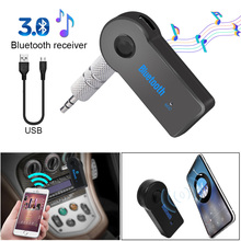 Mini 3.5MM AUX Audio Car Kit Wireless Handsfree Speaker Headphone Adapter MP3 Music Bluetooth Receiver Adapter  For Phone