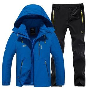 Image 2 - חדש עבה חם סקי חליפת נשים עמיד למים Windproof סקי וסנובורד מכנסיים מעיל סט נשי שלג תחפושות חיצוני ללבוש
