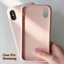 Get more info on the Case For Samsung Galaxy Note 8 9 S10 S10E S9 S8 Plus S7 Edge Solid Color Silicone Case For A70 A10 A7 2018 A50 A40 A30 A20 M20