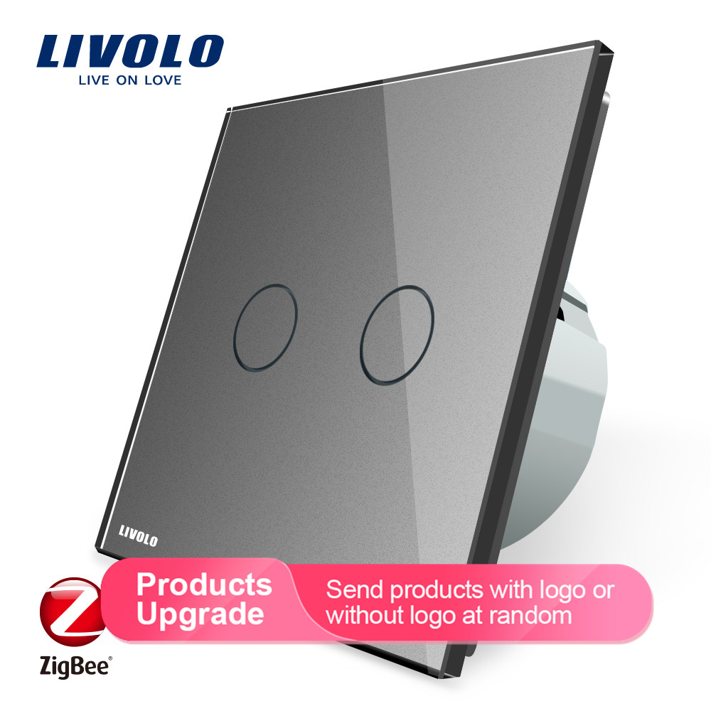 Livolo APP Touch Control Zigbee Switch, Home Automation smart switch wifi control, Work with Echo,alexa,google home