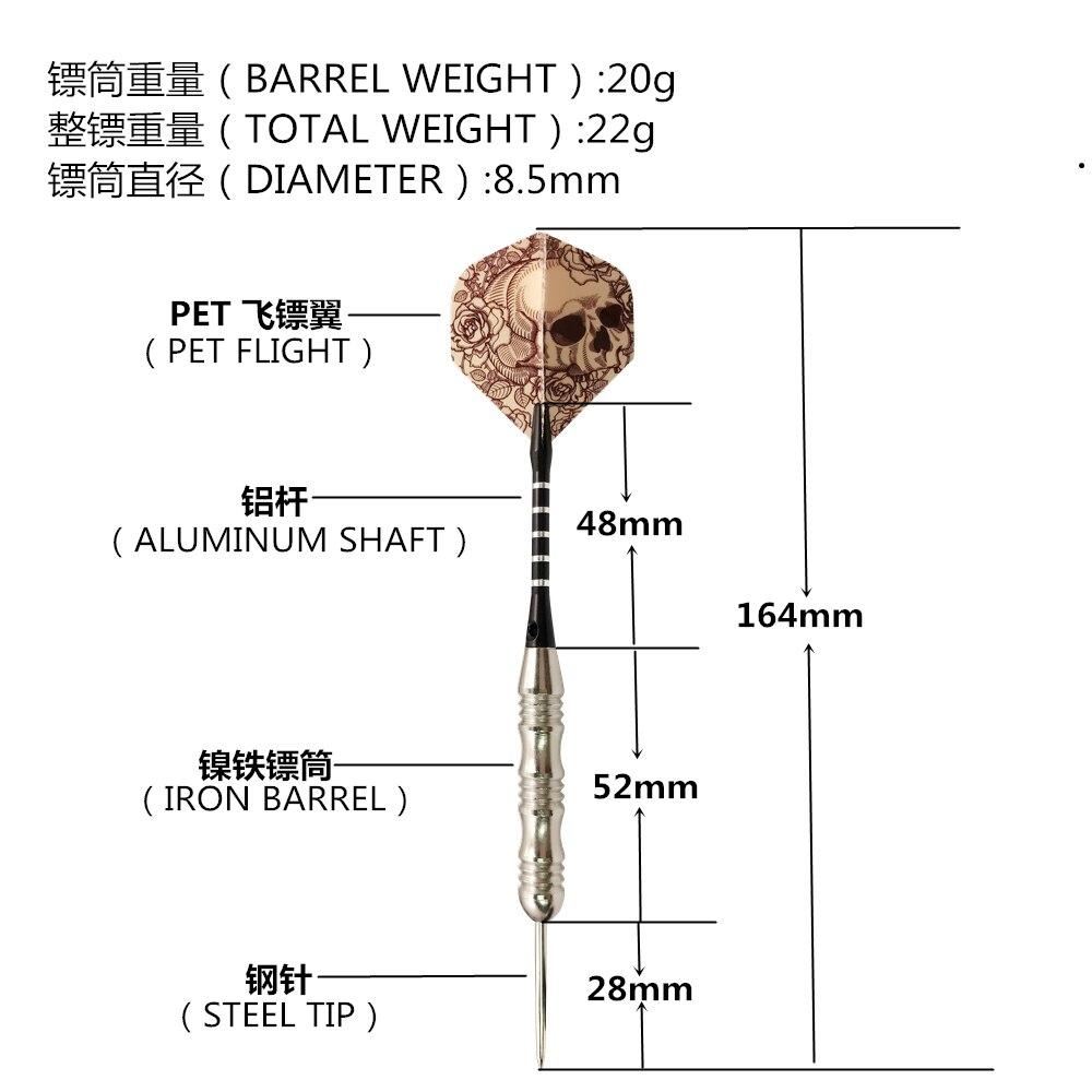 peças, conjunto de dardos com agulha de