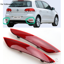 MZORANGE For Volkswagen VW Golf 6 2009 2010 2011 2012 2013 Rear Tail Bumper Reflector Lamps Car-Styling Rear Light Without Bulbs стоимость