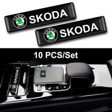 цена на Car Styling 3D Epoxy Decorative Emblem Stickers Badge for Skoda Octavia 2 A5 A7 Rapid Fabia Superb Fabia Yeti Car Accessories