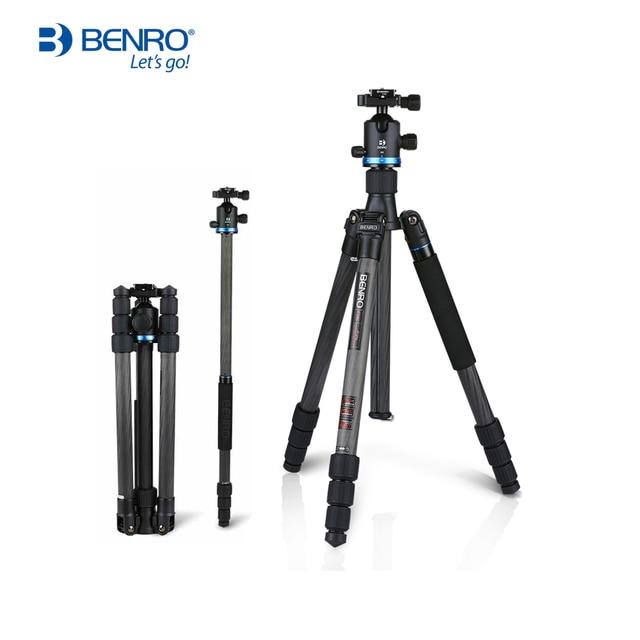 Benro iF18C+ Tripod Carbon Fiber Portable Reflexed Monopod Camera Stand For DSLR Carrying Bag Max Loading 10kg