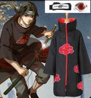 Hot Anime Naruto Akatsuki/Uchiha Itachi Mantel Cosplay Halloween Weihnachten Party Kostüm Ring Headwear Mäntel Cape