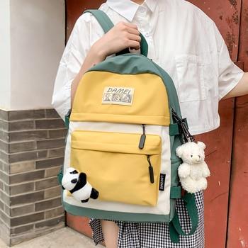 JULYCCINO Women Waterproof Nylon Backpack Harajuku Female Luxury Shoder Bag Ladies Bagpack for Teenage Girls School Bags Mochila flower princess women backpack nylon waterproof backpack fashion floral backpack female bagpack school bags for teenage girls
