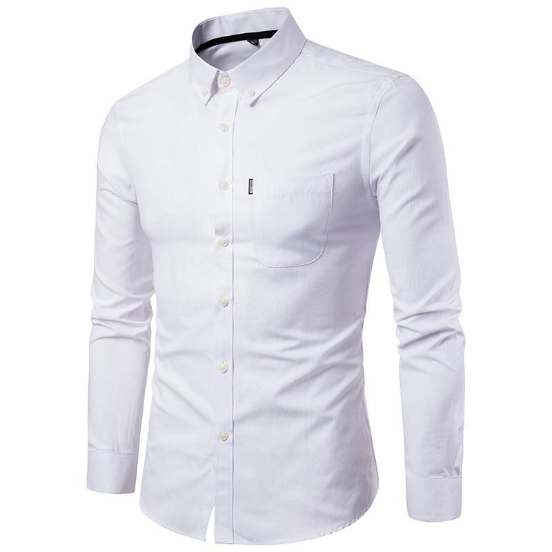 Shirt Men's Men's Shirts Korean Men's Slim Long Sleeve Dress Shirt