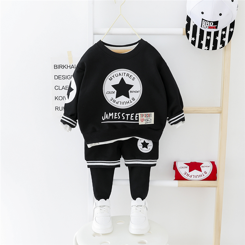 HYLKIDHUOSE 2020 Toddler Infant Clothing Sets Baby Girls Boys T Shirt Pants Casual Sports Clothes Children Vacation Clothing