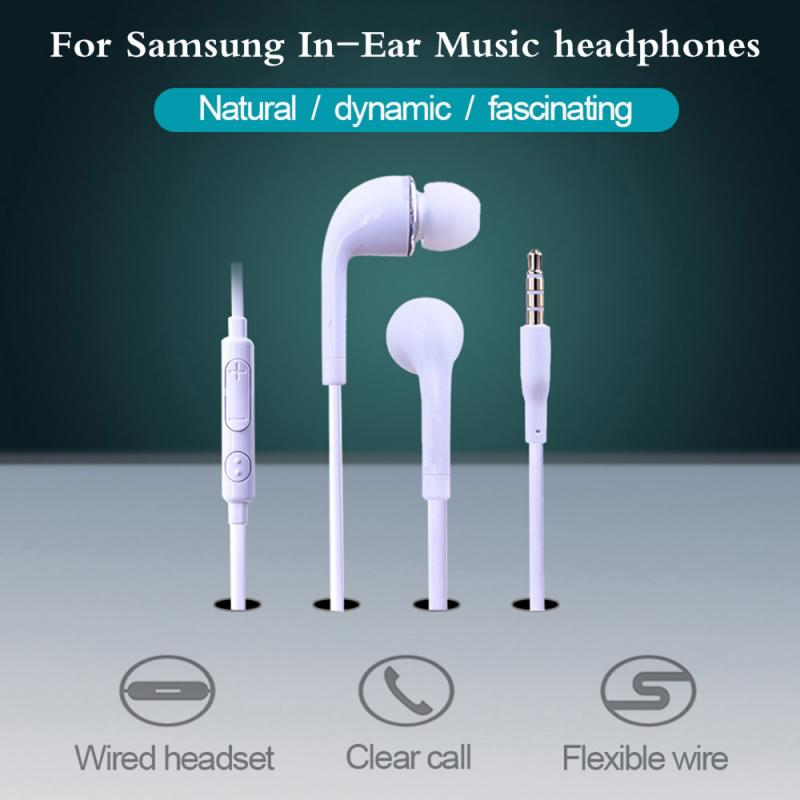 For Samsung Earphone 3.5mm In-ear With Mic Wired Headset For Samsung Galaxy S10 S9 S8 S7 S6 S5 S4 HUAWE Smartphone TSLM1