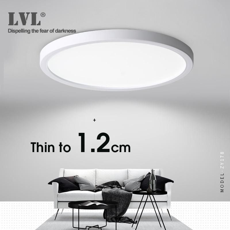LED tavan işık 6W 9W 13W 18W 24W Modern yüzey tavan lambası AC85-265V mutfak için yatak odası banyo lambaları