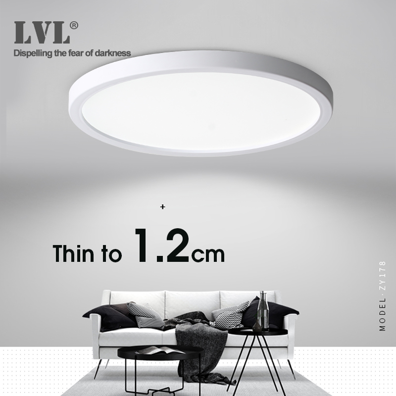 Lampa sufitowa LED 6W 9W 13W 18W 24W nowoczesna lampa sufitowa AC85-265V do kuchni sypialnia lampy łazienkowe