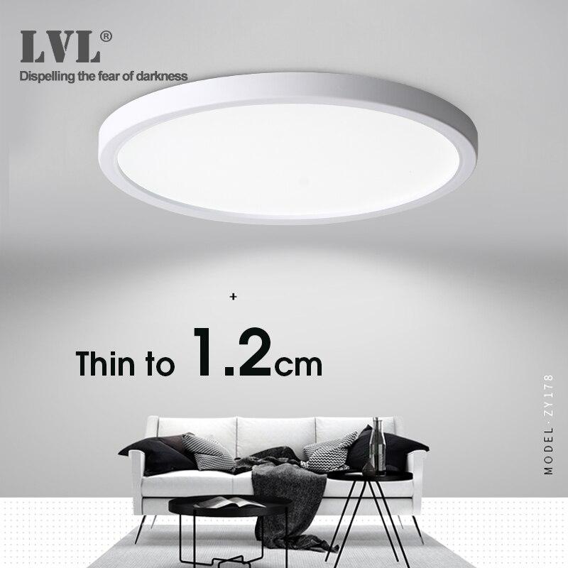 Luz de techo LED 6W 9W 13W 18W 24W lámpara de techo de superficie moderna AC85-265V para lámparas de baño de dormitorio de cocina