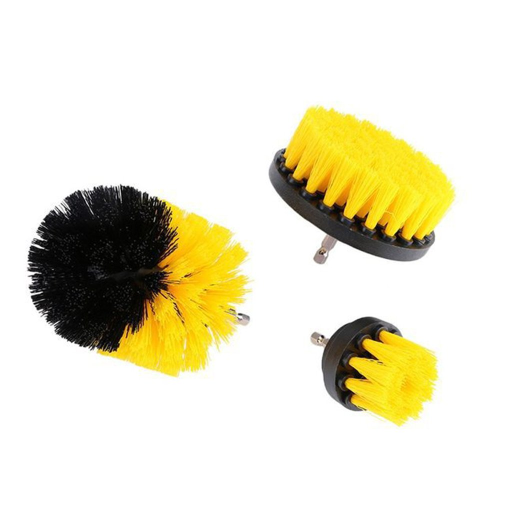 3pcs/set Electric Drill Brush Grout Power Scrubber Scrub Cleaning Brush Kit for Shower Door/Tub/Kitchen/Bathroom Cleaner Tool 1