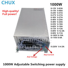 лучшая цена 1000W Switching Power Supply 0-12V 15V 24V 36V 48V 55V 60V 72V 80V 90V 110V 220V DC to AC Single Output LED 110V or 220V  SMPS