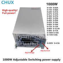 Power Supply 1000W For Led 0-12V 15V 24V 36V 48V 55V 60V 72V 80V 90V 110V Adjustable AC to DC switching Power Supply