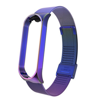 3 5 Strap for Mi Band 5 4 3 Metal Bracelet for Xiaomi Mi Band 5 4 3 Stainless Steel Sport Smart Watch Replacement for Miband 5 4 3
