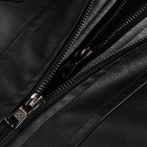 Image 5 - Blouson en similicuir PU chaud à capuche homme, coupe vent, pour moto, automne hiver offre spéciale, vêtements pour hommes