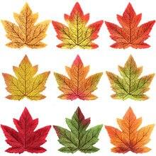 Simulation Maple Leaf Simulated Leaves Red Gold 10cm Single Maple Leaf Wedding Halloween Decoration Maple Leaf