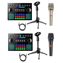 K1 Voice Changer HIFI Live Sound Card Mixer Board Streaming Audio Bluetooth 5.0 Universal with Microphone
