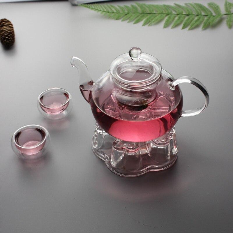 Heat-resistant Glass Teapot Double Wall Glass Teacup Clear Tea Pot Infuser Tea Kettle Tea Different Flavors