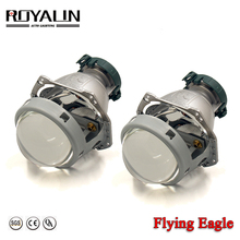 ROYALIN Bi Xenon Metal Flying Eagle For Hella 3R G5 Headlights Lens Universal Car D1S D2S D2H D3S D4S Projector Lights Retrofit free shipping iphcar china car accessories universal square 3 0 inch projector lens without d2h xenon blub and ballast