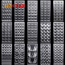 3D Polycarbonate Chocolate Molds Tray Forms For Baking Chocolate Bar Cake Thick Mould Pastry Tools for Bakery Mold Drop Shipping