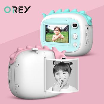 Aparat fotograficzny dla dzieci aparat fotograficzny dla dzieci kamera HD Instantane z termicznym papier fotograficzny zabawki aparat fotograficzny dla dziewczynek prezenty urodzinowe aparaty cyfrowe tanie i dobre opinie OREY 2x-7x CN (pochodzenie) Brak Full hd (1920x1080) 4 3 cali 18-55mm 24 0MP instant camera Karta sd Standardowy ekran