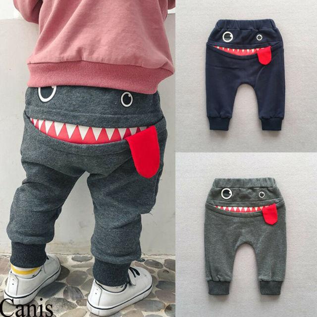Фото милые штаны монстр с большим ртом для маленьких мальчиков и