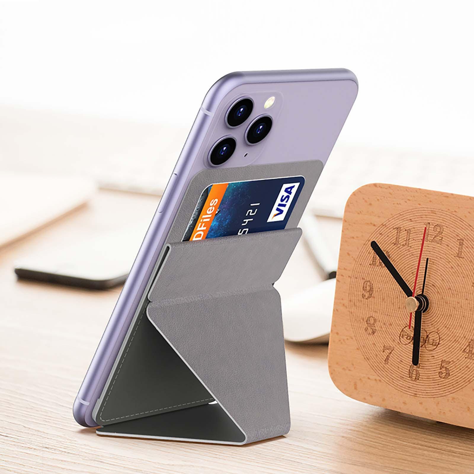 Version porte-carte pliable nouveau support pour téléphone Mobile Invisible collant support pour téléphone universel s accueil lit bureau se dresse #3