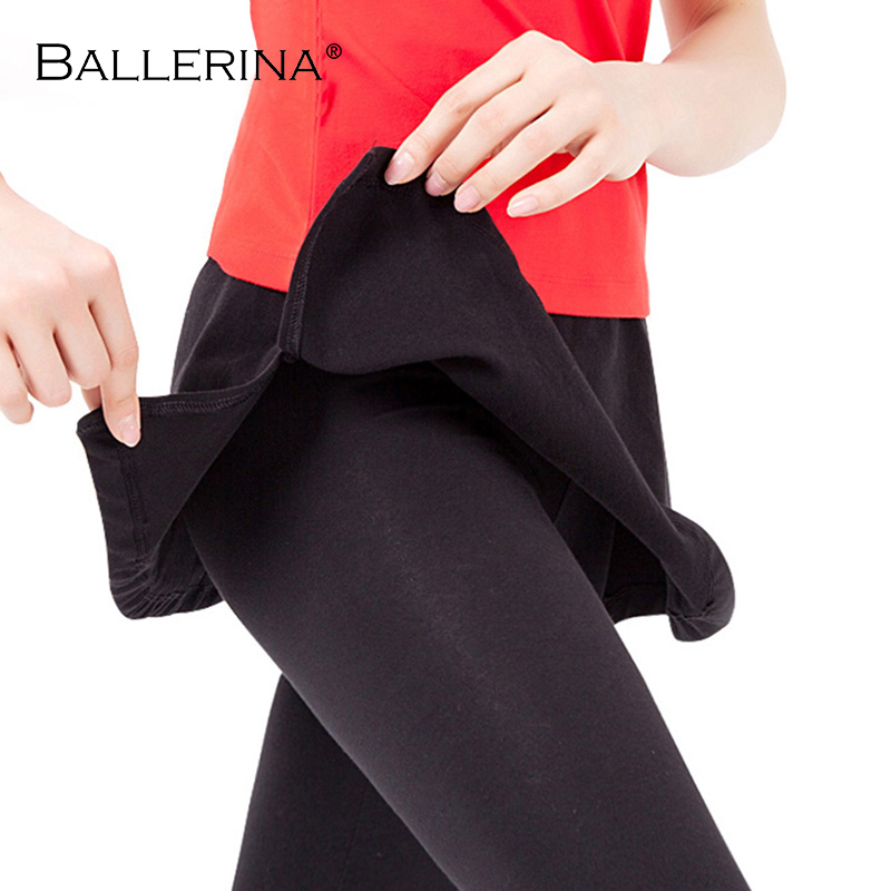 Sports Fitness Bodybuilding Trousers Women Dance Culottes Trousers With Skirt Ballerina 7017