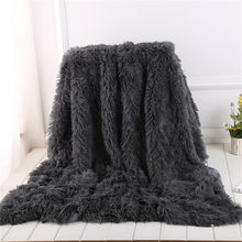 High Quality Shaggy Long Faux fur Throw Blanket Fuzzy Lightweight Plush Sherpa Fleece 2020 New(China)