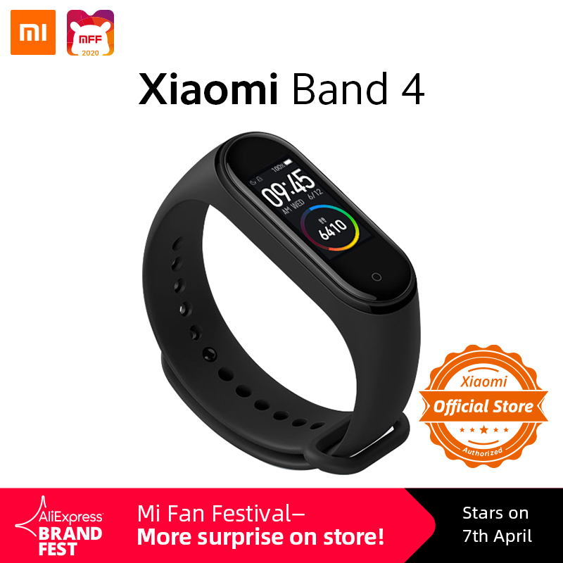 Xiaomi Mi Band 4 Global Version Smart Watch 135mAh Heart Rate Fitness Tracker Sport Waterproof Smartband Colorful Touch Screen