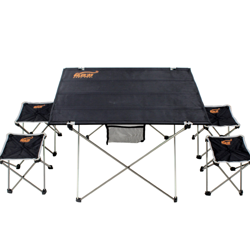 Outdoor Portable Folding Table And Chairs Ultra Light Mini Multi-function Self-driving Picnic Simple Table And Chair Set