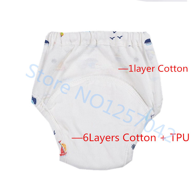 Cute Baby Diapers Reusable Nappies Cloth Diaper Washable Infants Children Baby Cotton Training Pants Panties Nappy 4