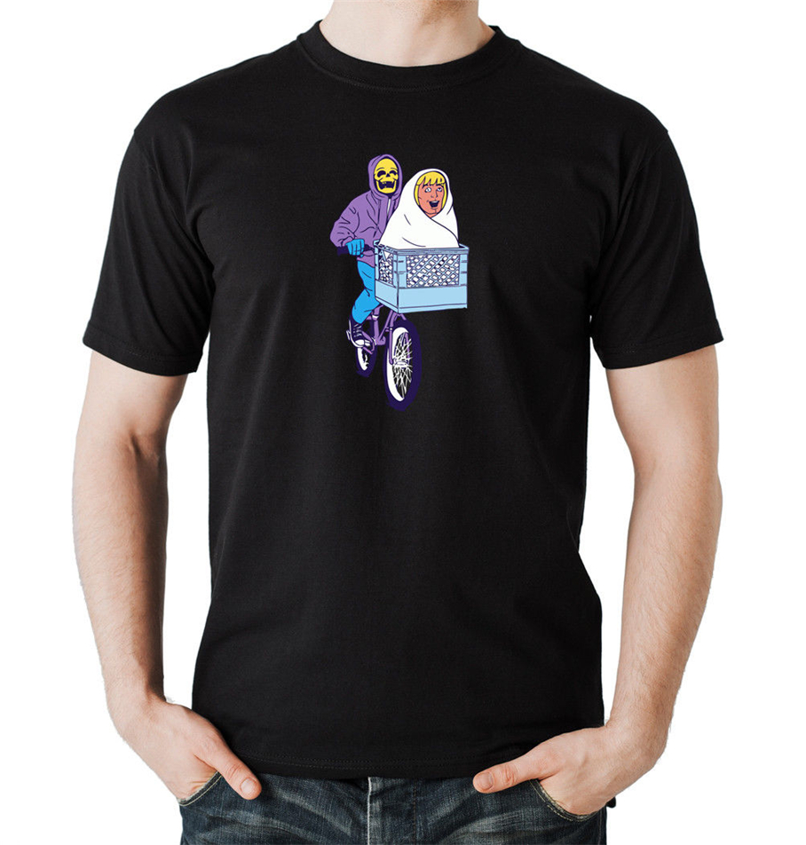 Skeletor Et T-Shirt Black Masters Of The Universe, Stephen Spielberg, Harajuku Funny Tee Shirt