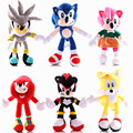 28cmSonic Plush Doll Toys Black Blue Yellow Sonic Plushie Soft Stuffed Peluche Hot Game Doll for Children Christmas Gifts