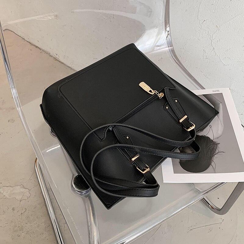 с доставкой Solid Color PU Leather Crossbody BagsWomen 2020 Classic Branded Shoulder Handbags Female Travel Totes Hand Bag