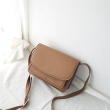 Women Bags Ladies Leather Bag Shoulder Bag Fashion Retro Small Square Bag Korean Version Of The Wild Messenger Bags 2017 new women bag beautiful women version of the purse fashion bags