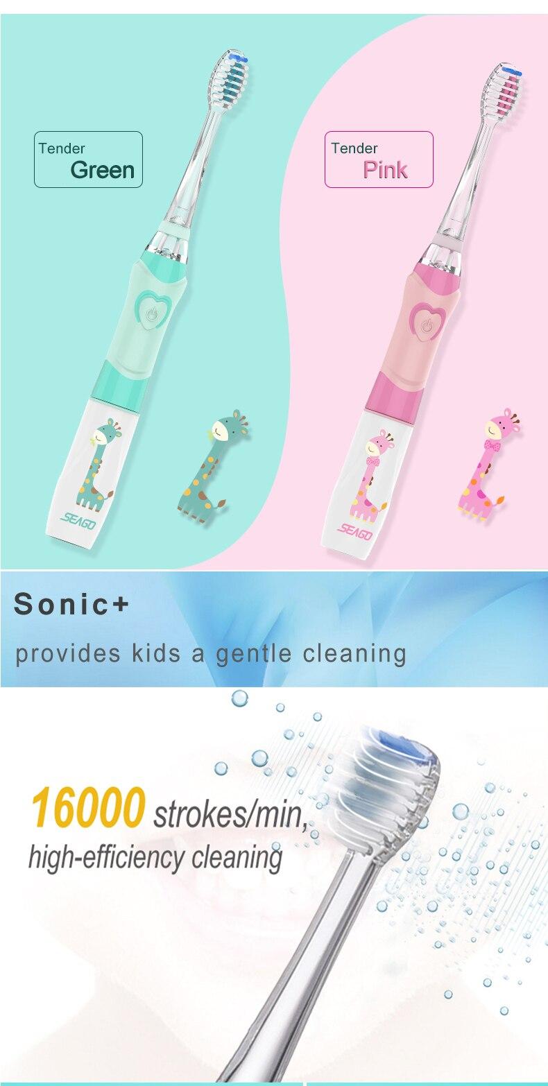 escova de dentes das crianças com temporizador inteligente 3 bocal