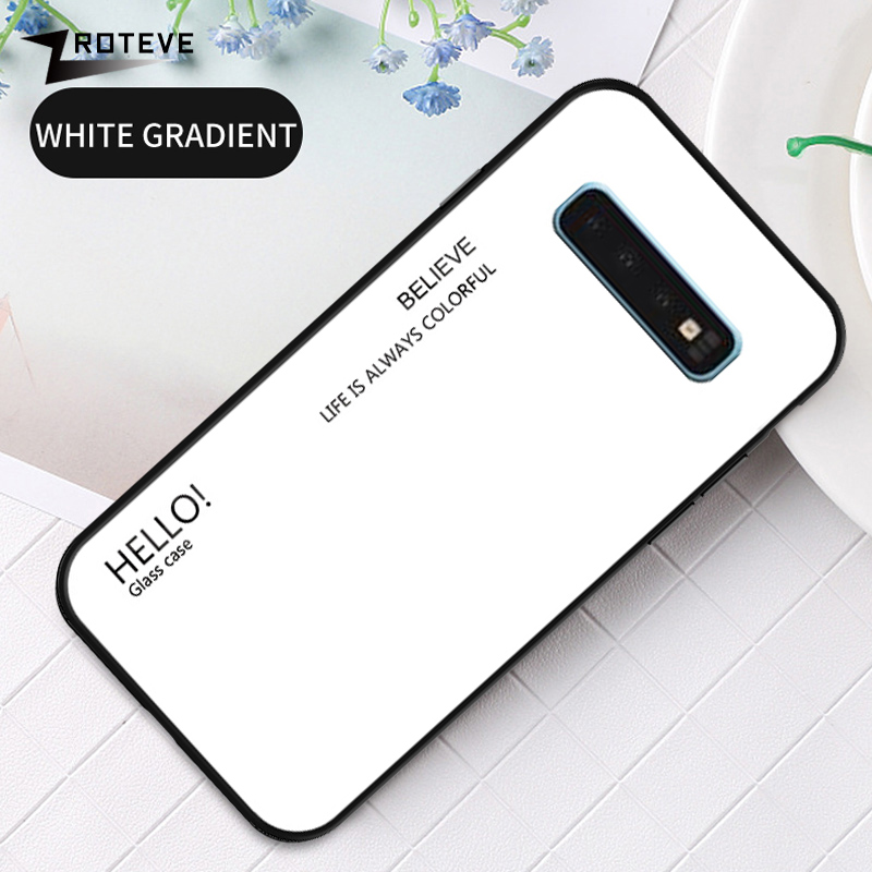ZROTEVE Cover For Samsung Galaxy S10 5G Case Glass Coque For Samsung S10 Plus Case Tempered Glass Cover For Galaxy S10E S10 Lite