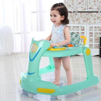 Multifunctional Children Walker Anti-rollover Two-in-one Sliding Walker with Music Baby Stroller Baby Safety Car new design baby walker multifunctional music plate u type folding easy anti rollover safety scooter baby walkers portable carry