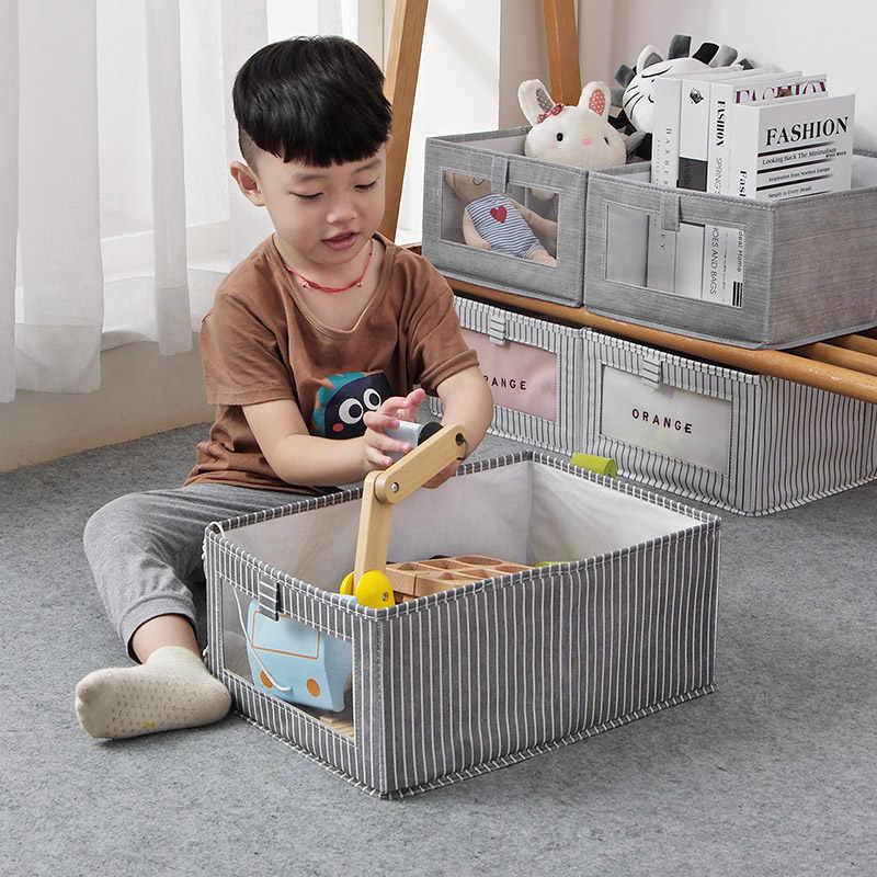 2020 Cube Opvouwbare Non-woven Opbergdoos Voor Kinderen Speelgoed Organizer Garderobe Afwerking Bins Kleding Ondergoed Shirt Opbergdozen