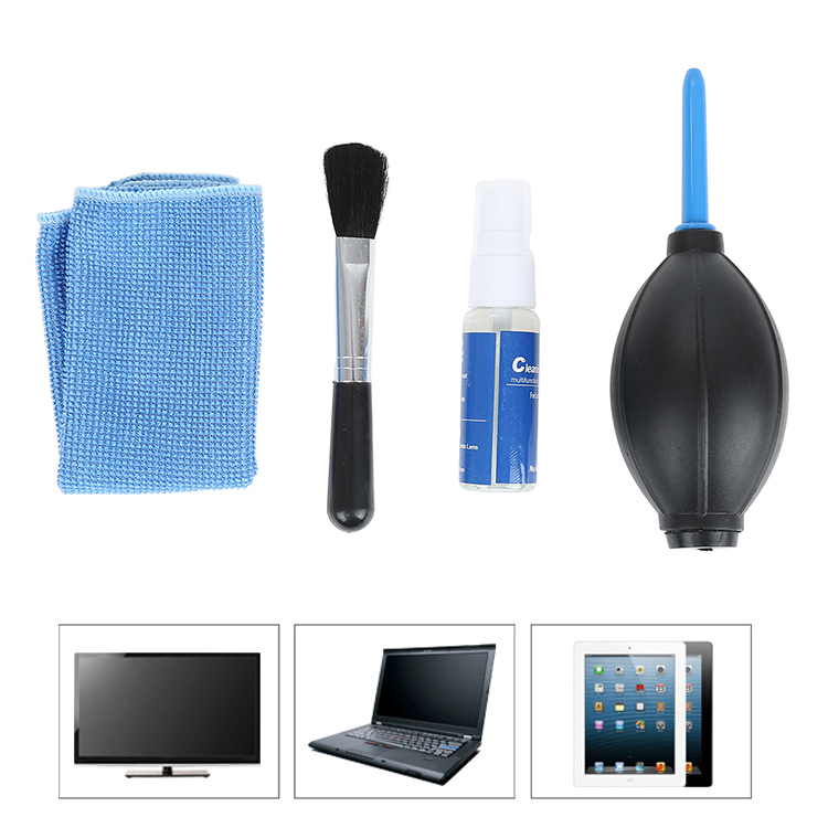 4 In1 Screen Cleaning Kit For TV LED PC Monitor Laptop Tablet IPad Cleaner LC3
