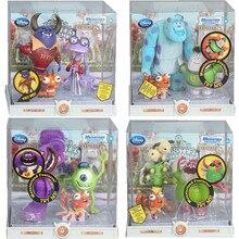 Disney Pixar canavarlar üniversitesi canavarlar Inc oyuncak aksiyon figürleri James P. Sullivan Mike Wazowski Mr.Q modeli Disney rakamlar hediye