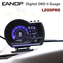 Eanop L200pro Hud OBD2 Gps Smart Head Up Display Speed Monitoring 9 Interface Digitale Gauge Meter Turbo Brake Test Obd scanner
