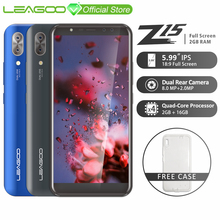 "LEAGOO Z15 Mobile Phone 5.99"" 18:9 Full Screen 2GB RAM 16GB ROM D"