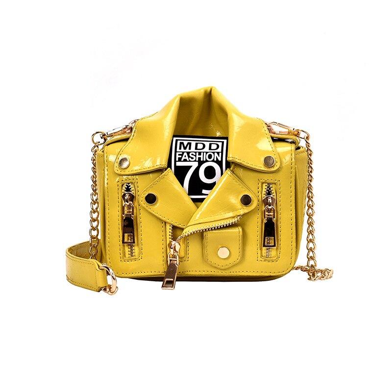 Women Bag Rivet-Bag Chain Messenger-Bag Heavy-Work-Bag Locomotor-Style PU 649 Hot-Sale