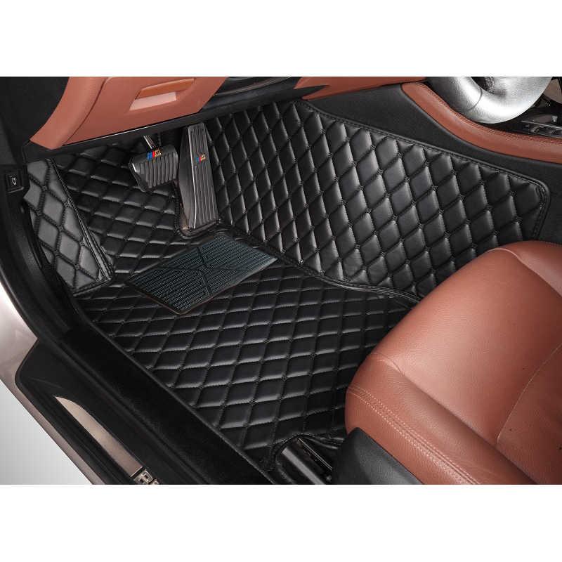 CUSTOM รถสำหรับ Toyota Land Cruiser 4500 LC100 ALPHARD Previa Highlander รถ-จัดแต่งทรงผมหนังพรมเสื่อชั้น liner